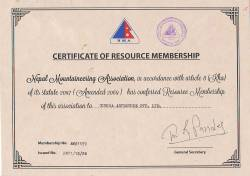 Certificate of NMA.  » Click to zoom ->