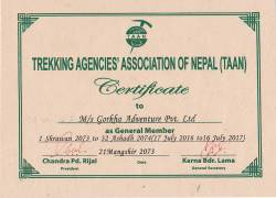 Certificate of TAAN  » Click to zoom ->