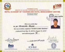 Tour Guide License from Ministry of Tourism.  » Click to zoom ->